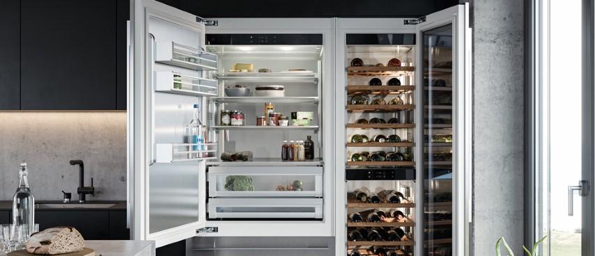 V-Zug grote koelkastcombinatie met wijnkoeler